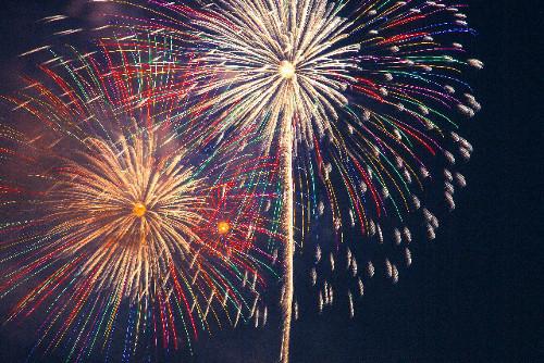 夏のお祭り 花火イメージ