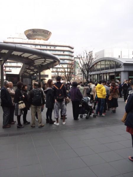 京都市バス混雑の様子