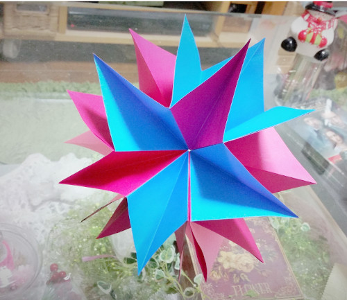 クリスマス 折り紙 壁飾り手作り折り紙 : nonnodiary.net