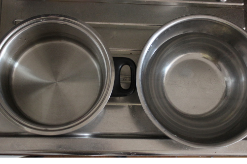 テンパリング湯銭鍋とボール