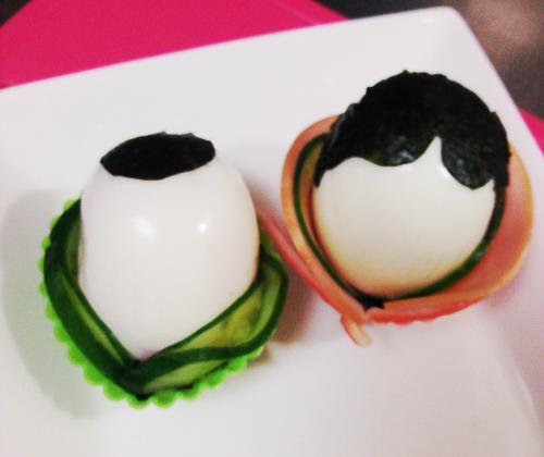 ゆで卵でお雛様着物