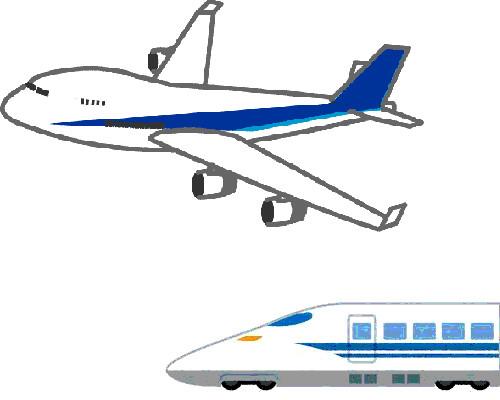 北陸新幹線と飛行機 比較