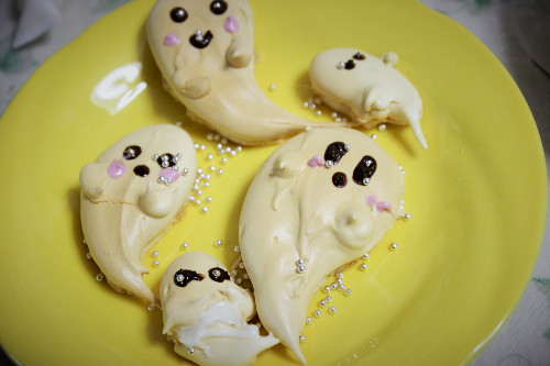 ハロウィンおばけお菓子メレンゲクッキー