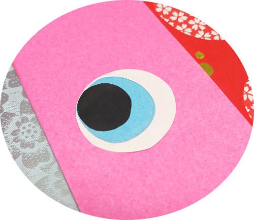 鯉のぼり折り紙目玉アップ