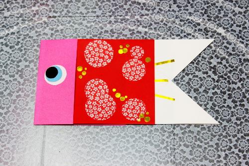 鯉のぼり折り紙作り方13出来上がり