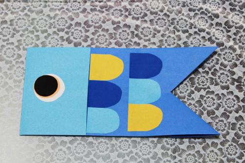 鯉のぼり子供折り紙完成