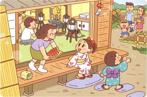 夏休みお盆おばあちゃんの家