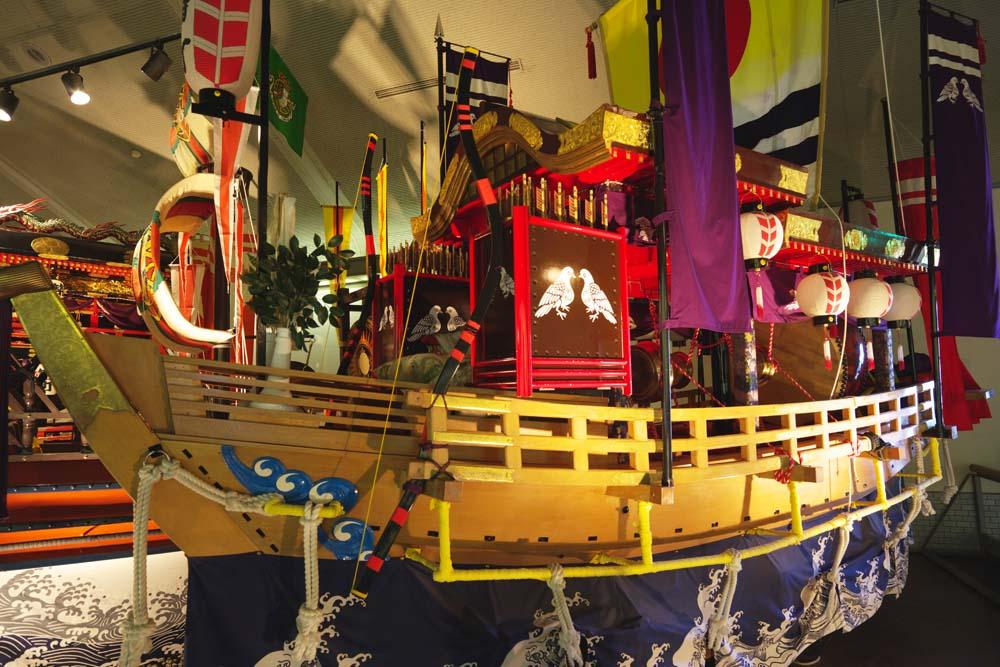長崎くんちの曳物 展示