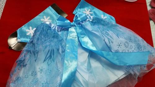 雪の妖精ダイソーハロウィン子供用コスプレ衣