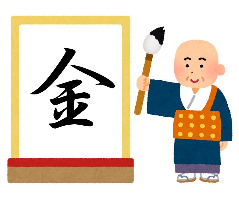 今年の漢字2016年は「金」